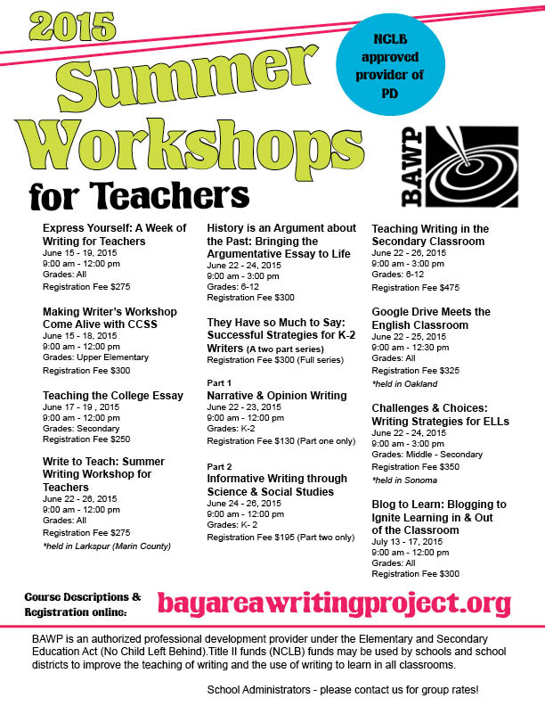 summer writing programs