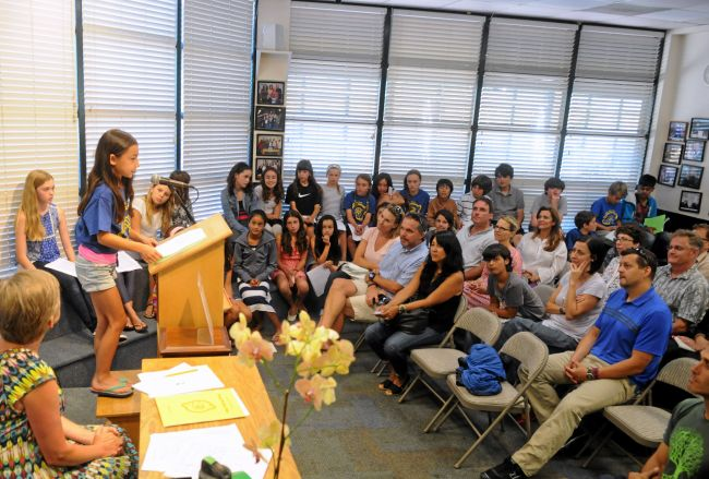 Young Writers Reading to a crowd at the Book Passage in Marin