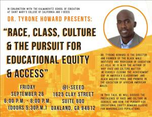 Dr. Howard flyer @ I-SEEED  (Oakland)