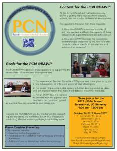 PCN 2015-2016 Flyer