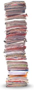 pile paper